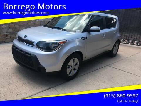 2015 Kia Soul for sale at Borrego Motors in El Paso TX