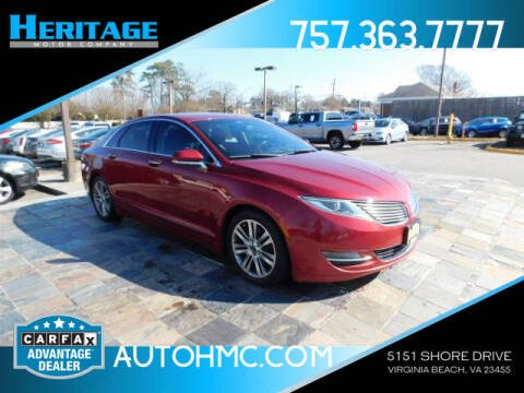2013 Lincoln MKZ for sale at Heritage Motor Company in Virginia Beach VA