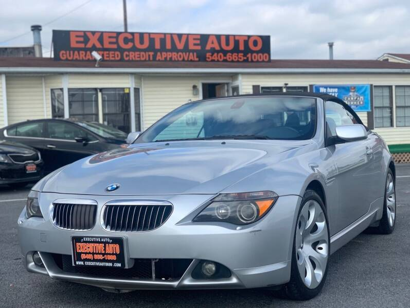 2004 BMW 6 Series for sale at Executive Auto in Winchester VA