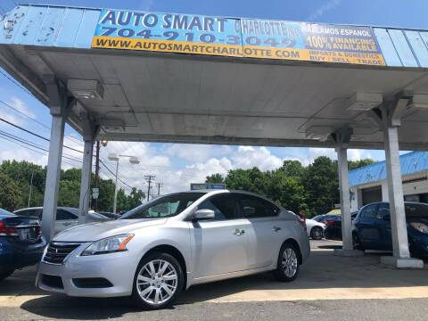 2015 Nissan Sentra for sale at Auto Smart Charlotte in Charlotte NC