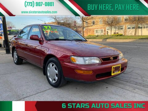 1997 Toyota Corolla for sale at 6 STARS AUTO SALES INC in Chicago IL