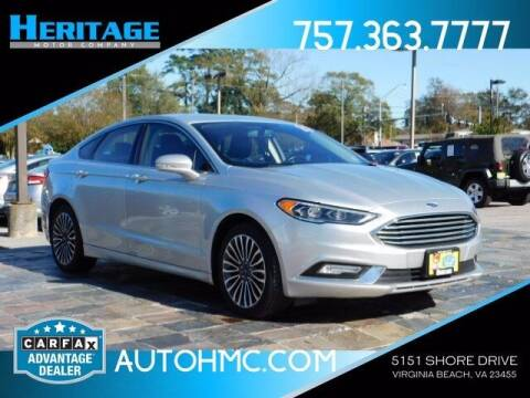 2017 Ford Fusion for sale at Heritage Motor Company in Virginia Beach VA