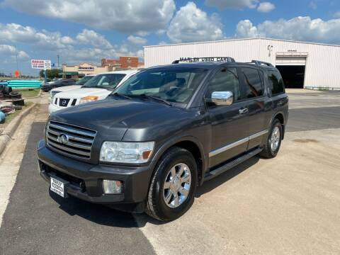 2005 Infiniti QX56 for sale at MARLER USED CARS in Gainesville TX