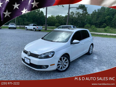 2011 Volkswagen Golf for sale at M & D Auto Sales Inc in Foley AL