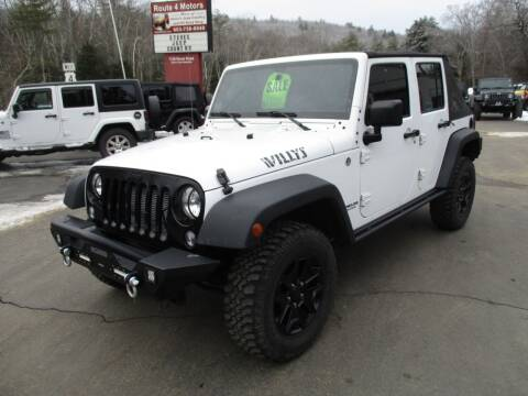 2015 Jeep Wrangler Unlimited for sale at Route 4 Motors INC in Epsom NH