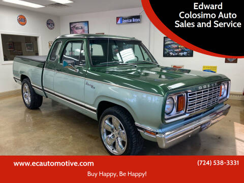 1978 Dodge Ram for sale at Edward Colosimo Auto Sales and Service in Evans City PA