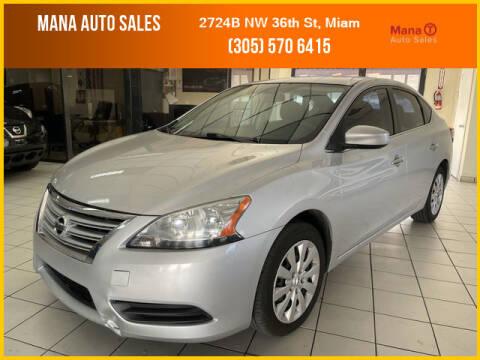 2014 Nissan Sentra for sale at MANA AUTO SALES in Miami FL