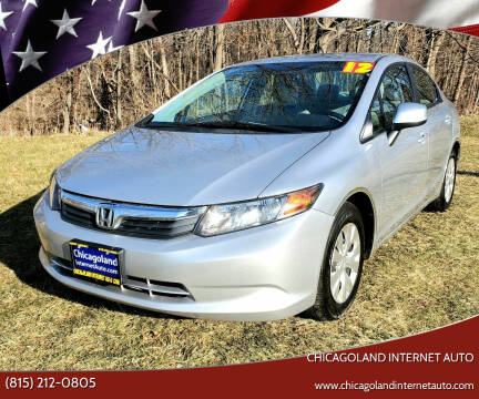 2012 Honda Civic for sale at Chicagoland Internet Auto - 410 N Vine St New Lenox IL, 60451 in New Lenox IL