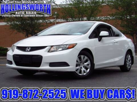 2012 Honda Civic for sale at Hollingsworth Auto Sales in Raleigh NC