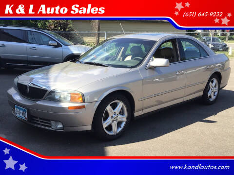 2002 Lincoln LS for sale at K & L Auto Sales in Saint Paul MN