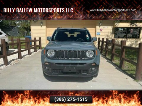 2018 Jeep Renegade for sale at Billy Ballew Motorsports LLC in Daytona Beach FL