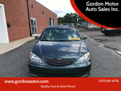 2003 Toyota Camry for sale at Gordon Motor Auto Sales Inc. in Norfolk VA