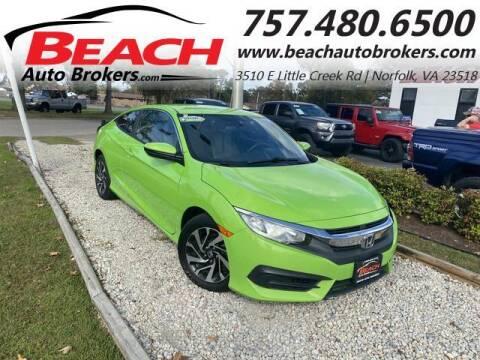 2016 Honda Civic for sale at Beach Auto Brokers in Norfolk VA