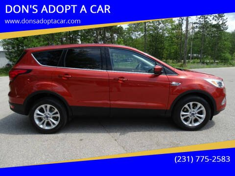 2019 Ford Escape for sale at DON'S ADOPT A CAR in Cadillac MI