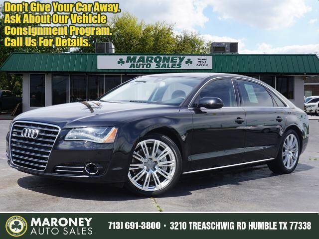 2012 Audi A8 L for sale at Maroney Auto Sales in Humble TX