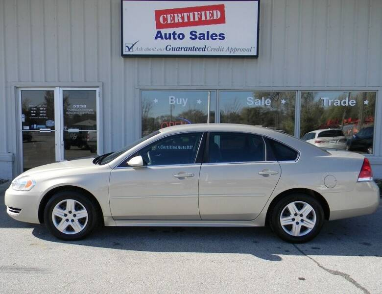 2010 Chevrolet Impala for sale at Certified Auto Sales in Des Moines IA