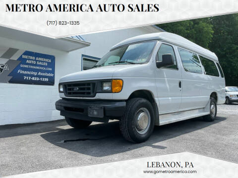 2003 Ford E-Series Wagon for sale at METRO AMERICA AUTO SALES of Lebanon in Lebanon PA