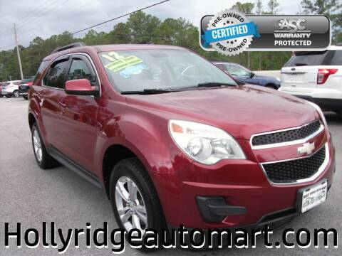 2012 Chevrolet Equinox for sale at Holly Ridge Auto Mart in Holly Ridge NC