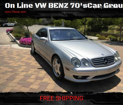 2002 Mercedes-Benz CL-Class for sale at On Line VW BENZ 70'sCar Group in Warehouse CA