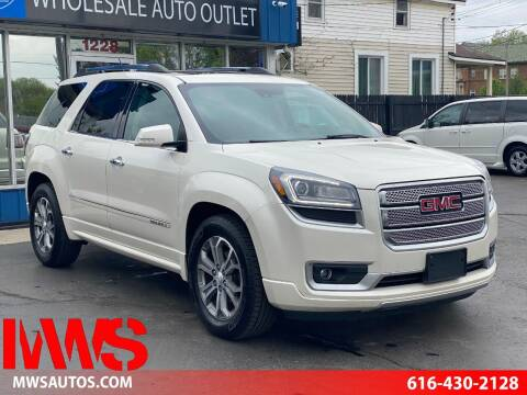 2015 GMC Acadia for sale at MWS Wholesale  Auto Outlet in Grand Rapids MI