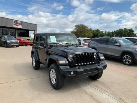 2020 Jeep Wrangler for sale at KIAN MOTORS INC in Plano TX