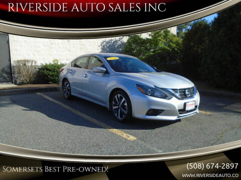 2016 Nissan Altima for sale at RIVERSIDE AUTO SALES INC in Somerset MA