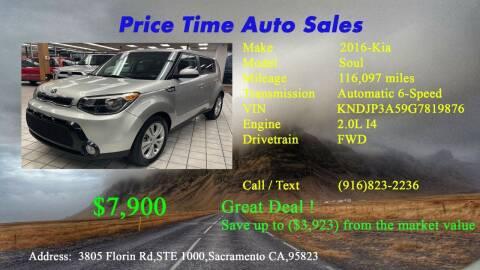 2016 Kia Soul for sale at PRICE TIME AUTO SALES in Sacramento CA