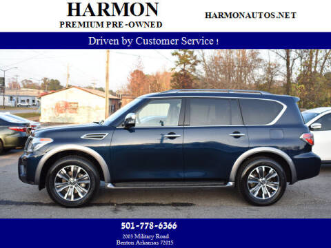 2019 Nissan Armada for sale at Harmon Premium Pre-Owned in Benton AR