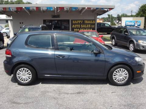 2012 Volkswagen Golf for sale at HAPPY TRAILS AUTO SALES LLC in Taylors SC