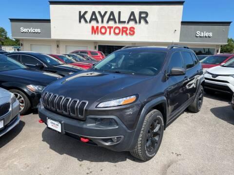 2015 Jeep Cherokee for sale at KAYALAR MOTORS in Houston TX