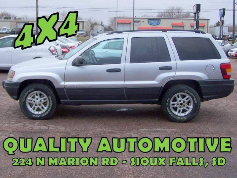 2003 Jeep Grand Cherokee for sale at Quality Automotive in Sioux Falls SD