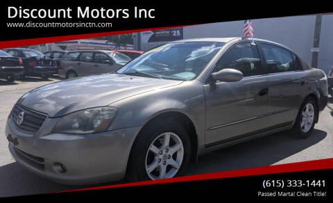 2005 Nissan Altima for sale at Discount Motors Inc in Nashville TN