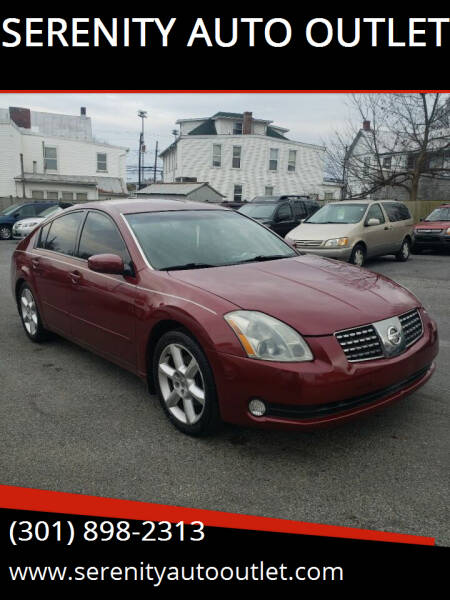 2004 Nissan Maxima for sale at SERENITY AUTO OUTLET in Frederick MD