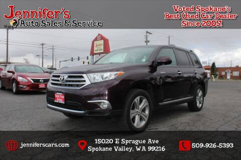 2013 Toyota Highlander for sale at Jennifer's Auto Sales in Spokane Valley WA