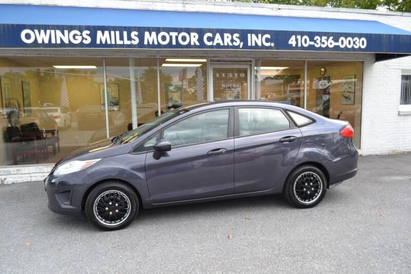 2013 Ford Fiesta for sale at Owings Mills Motor Cars in Owings Mills MD