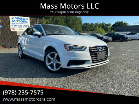 2016 Audi A3 for sale at Mass Motors LLC in Worcester MA