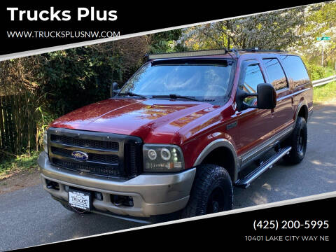 2004 Ford Excursion for sale at Trucks Plus in Seattle WA