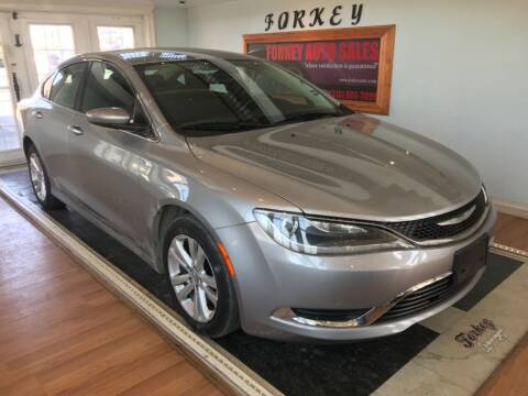 2015 Chrysler 200 for sale at Forkey Auto & Trailer Sales in La Fargeville NY