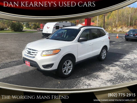 2010 Hyundai Santa Fe for sale at DAN KEARNEY'S USED CARS in Center Rutland VT