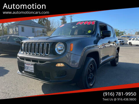 2017 Jeep Renegade for sale at Automotion in Roseville CA