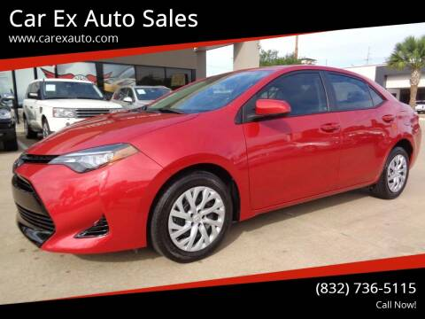 2017 Toyota Corolla for sale at Car Ex Auto Sales in Houston TX