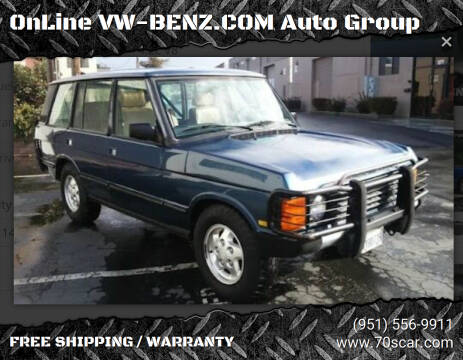 1995 Land Rover Range Rover for sale at OnLine VW-BENZ.COM Auto Group in Riverside CA