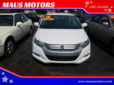 2010 Honda Insight for sale at MAUS MOTORS in Hazel Crest IL