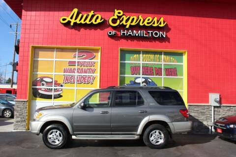 2003 Toyota Sequoia for sale at AUTO EXPRESS OF HAMILTON LLC in Hamilton OH