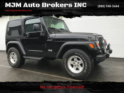 2006 Jeep Wrangler for sale at MJM Auto Brokers INC in Gloucester MA