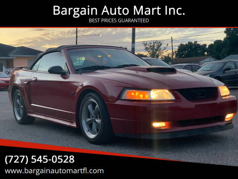 2002 Ford Mustang for sale at Bargain Auto Mart Inc. in Kenneth City FL