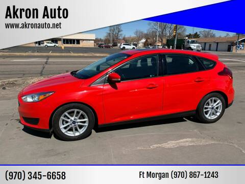 2016 Ford Focus for sale at Akron Auto in Akron CO