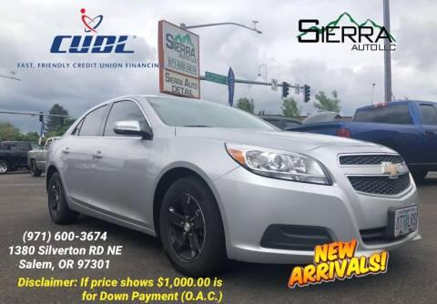 2013 Chevrolet Malibu for sale at SIERRA AUTO LLC in Salem OR