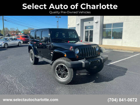 2012 Jeep Wrangler Unlimited for sale at Select Auto of Charlotte in Matthews NC
