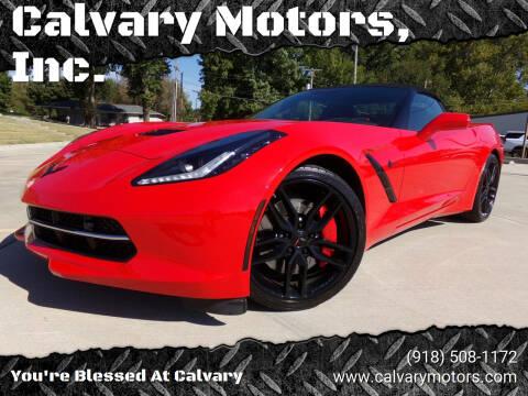 2016 Chevrolet Corvette for sale at Calvary Motors, Inc. in Bixby OK